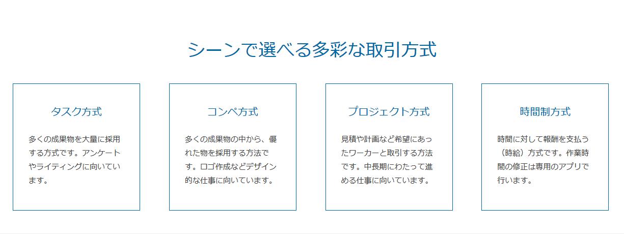 選べる4つの採用方式のサイトの画像